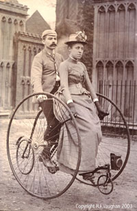 Victorian Cycling Couple