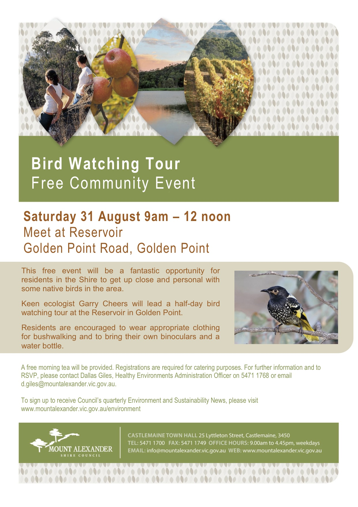 Flyer - Bird Watching Tour - 31 August 2013