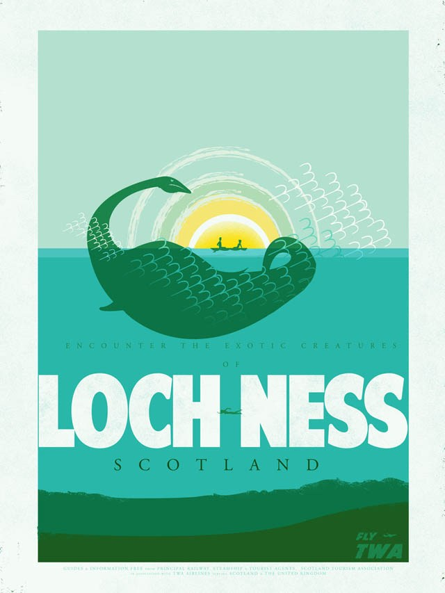 Retro-TWA-Poster-Lochness-Monster-in-Scotland