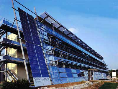 This Freiburg factory is Europe's first zero-emissions solar module factory and uses only renewable energy sources for electricity and heat