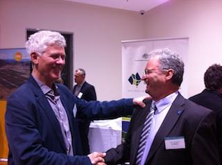 Deane Belfield of MacR and Mayor Arno Zengle of Wildpoldsried