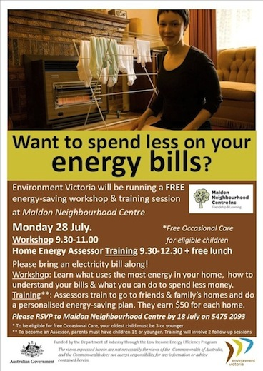 Energy saving workshop_Maldon NC_28 July14