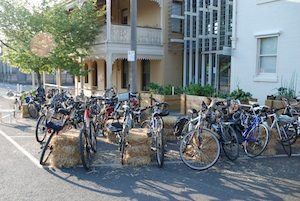 R2W bike parking at the event 15 Oct 2014