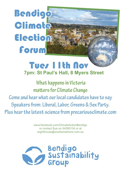 climate forum poster